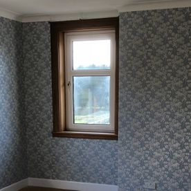 A room our team have wallpapered in Ayrshire