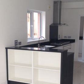A expertly pained kitchen in Ayrshire