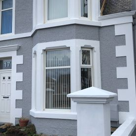 A fresh coat of paint applied to the exterior of a home in Ayrshire