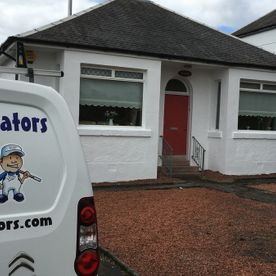our van outside of a home in Ayrshire